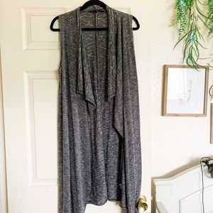 Dark grey maxi sweater vest